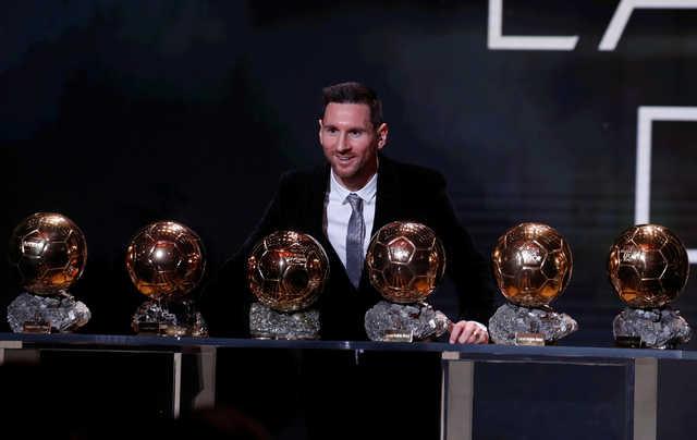Messi claims record sixth Ballon d'Or, Rapinoe wins women's award