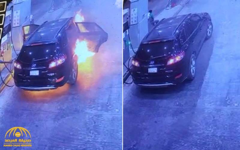 VIDEO: Car bursts into flames while being refuelled at petrol station