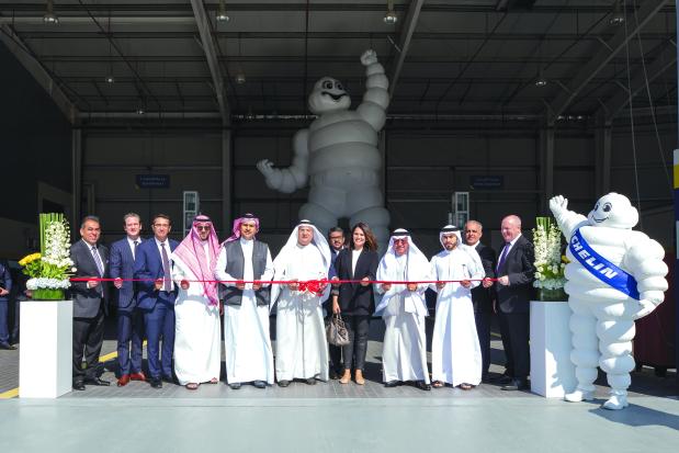 Michelin truck service centre opens  Byline u/s: