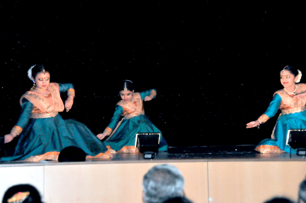 <p>A Bahraini artist along with his students staged Indian classical dance performances at the Kerala Catholic Association auditorium in Segaiya last night. The debut presentation by the students of Khalil Al Ashar at his School of Kathak in Bahrain, Tatkaar was titled 'Aarambh' (The Beginning). Mr Al Ashar, the only Bahraini exponent in the form of Indian ballet known as Kathak, along with Bharatanatyam exponent Rupesh K C from Bangalore, India also presented a duet at the event. Above and below, dancers performing at the event.</p>