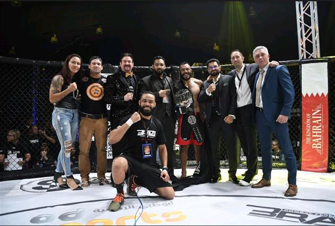 """Daniel """"Gaucho"""" brutalizes Chad Hanekom, becomes first-ever BRAVE CF Middleweight champion"""