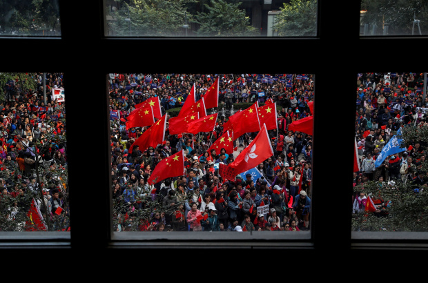 Thousands rally in Hong Kong as government appeals for calm