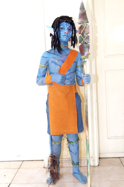One of the children dressed up as an avatar