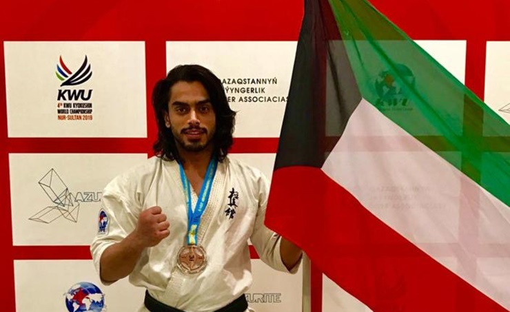 Kuwaiti wins third in world karate championship