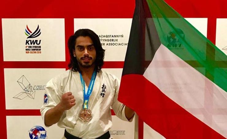 Kuwaiti wins third in world karate championship