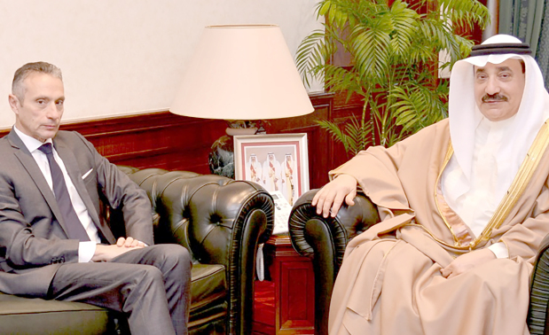 <p>Labour and Social Development Minister Jameel Humaidan received French Ambassador J&eacute;r&ocirc;me Cauchard. They discussed ways of bolstering bilateral co-operation in the labour and social development field.</p>