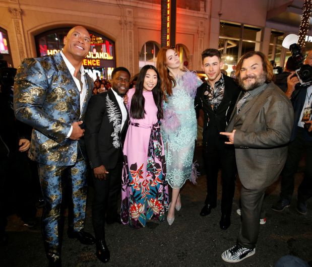 'Jumanji: The Next Level' stars rock the red carpet in Hollywood