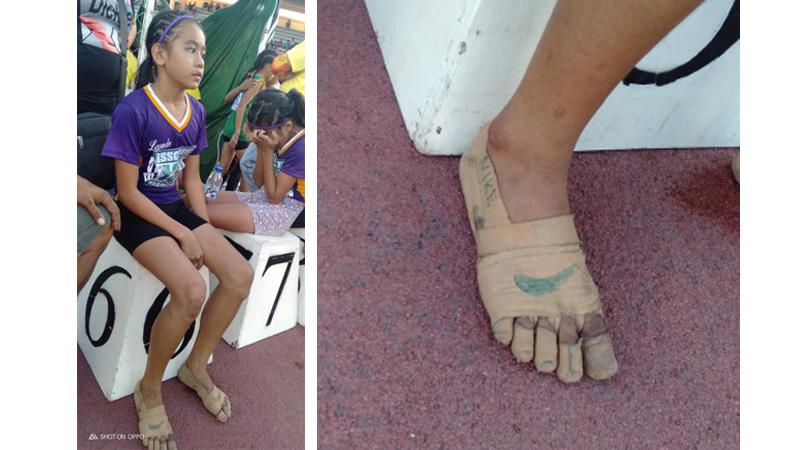 Homemade 'Nikes' give Filipina athlete a golden edge