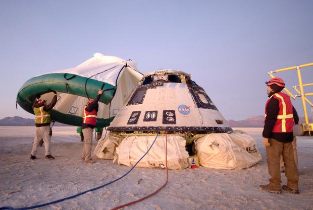 Bull's-eye landing caps Boeing's faulty astronaut capsule test mission
