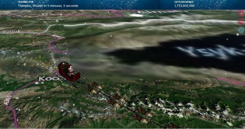 Where in the world is Santa Claus already? Find out with the Santa tracker!