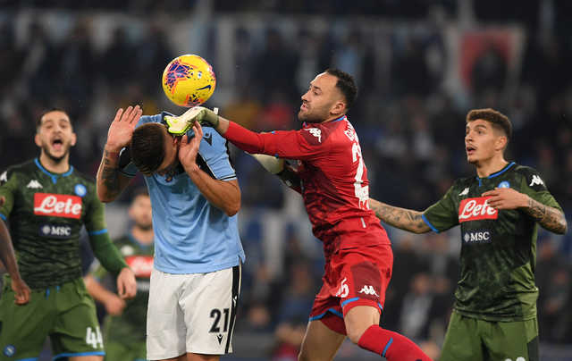 Serie A: Lazio snatch 10th straight win after howler by Napoli's Ospina