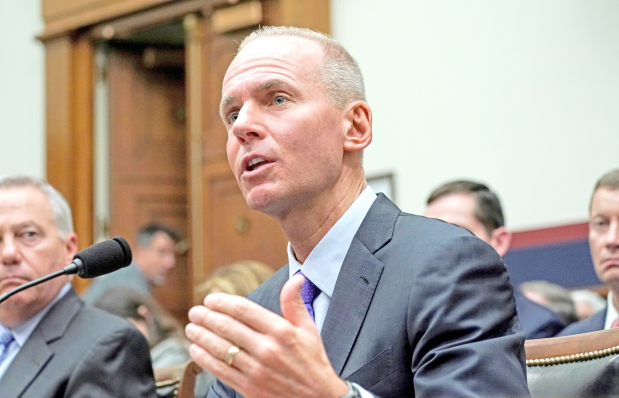 Boeing CEO departs with $62m