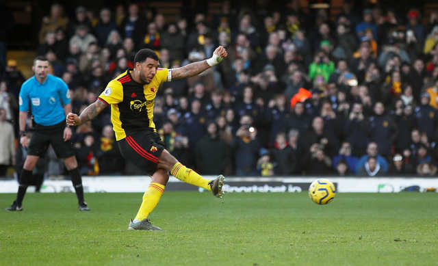 Troy Deeney misses penalty as Watford and Tottenham Hotspur draw 0-0