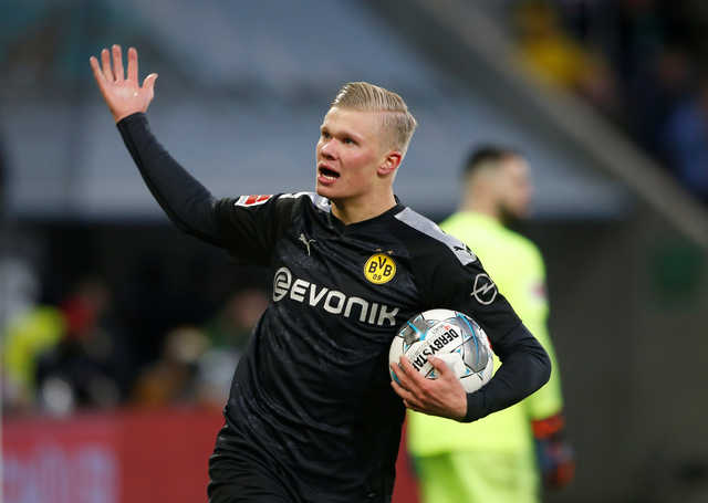 Borussia Dortmund's Erling Haaland sparkles with hat-trick on debut