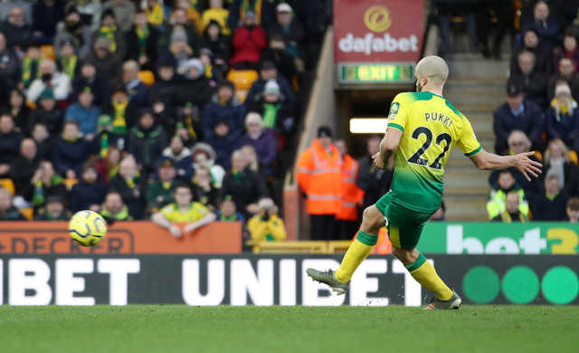 EPL: Norwich City log crucial win over Bournemouth despite pitchside VAR red card