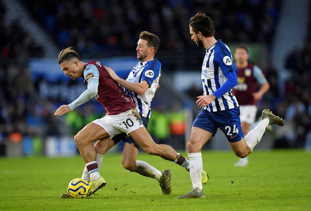 EPL: Late Jack Grealish goal earns Aston Villa draw at Brighton & Hove Albion