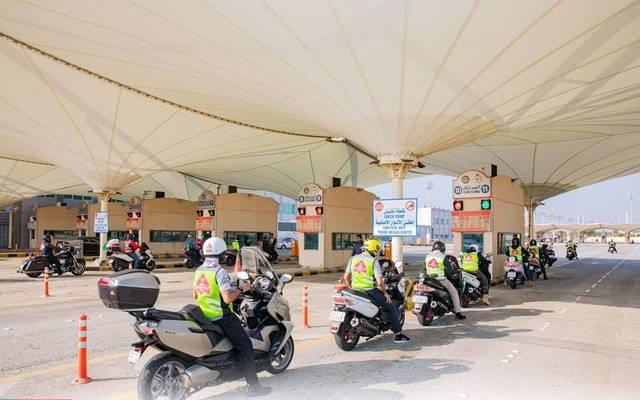 109 motorbikes cross King Fahd Causeway on average daily
