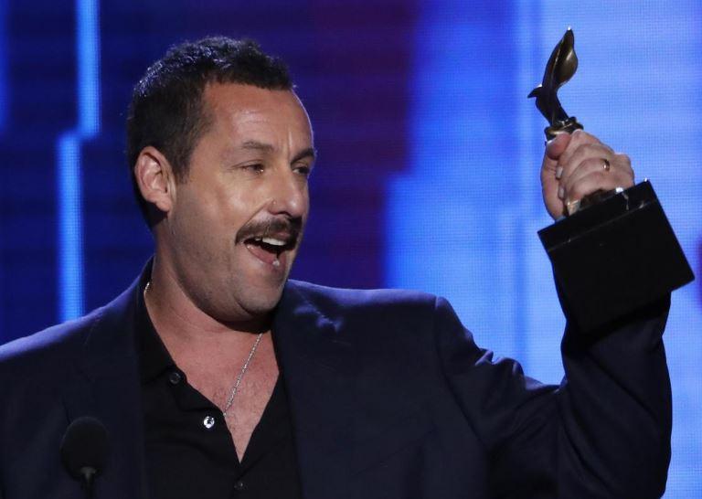 Adam Sandler laughs off Oscar snub as he wins indie acting prize