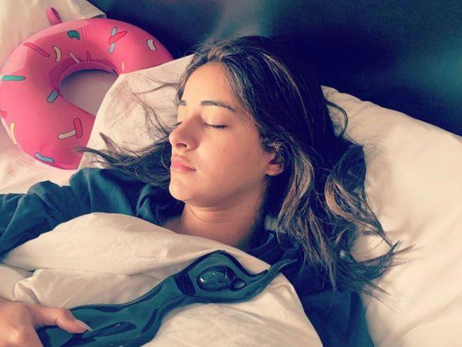 Bollywood youngster Ananya goes to bed with her award!