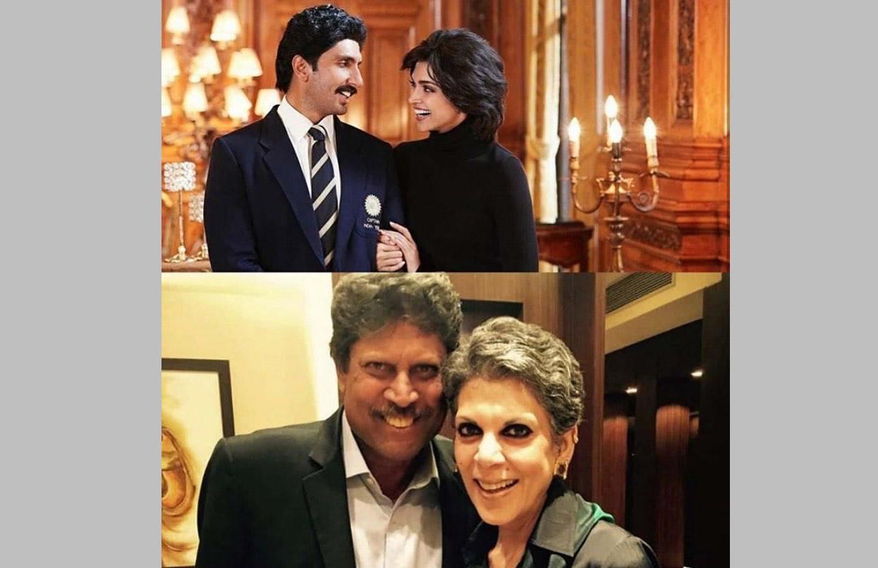 Ranveer and Deepika reveal first look as Kapil Dev-Romi for the film '83'