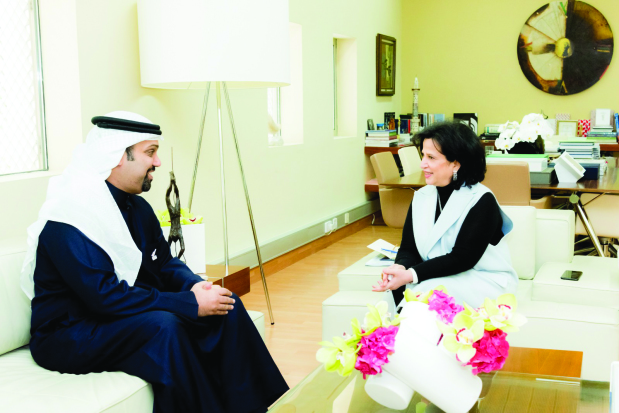 Bahrain Authority for Culture and Antiquities president Shaikha Mai bint Mohammed Al Khalifa yesterday met Finance and National Economy Minister Shaikh Salman bin Khalifa Al Khalifa and stressed the importance of exerting efforts to boost the economy, highlighting the role of culture.
