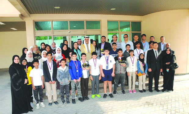 <p>Education Minister Dr Majid Al Nuaimi honoured winners of the first national chess competition.</p>