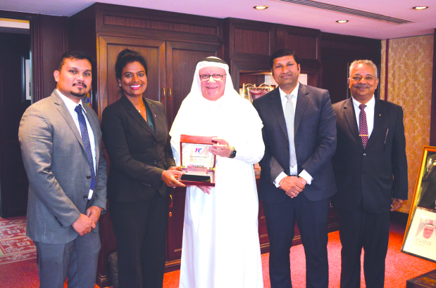 Lukoil, one of the top global brands of automotive and marine lubricants, felicitated Y K Almoayyed and Sons, its sole distributor in Bahrain, to mark five years of successful partnership in the country. Y K Almoayyed and Sons chairman Farouk Almoayyed received the award from Lukoil Middle East, Asia and Africa managing director June Manoharan in the presence of officials from both sides.