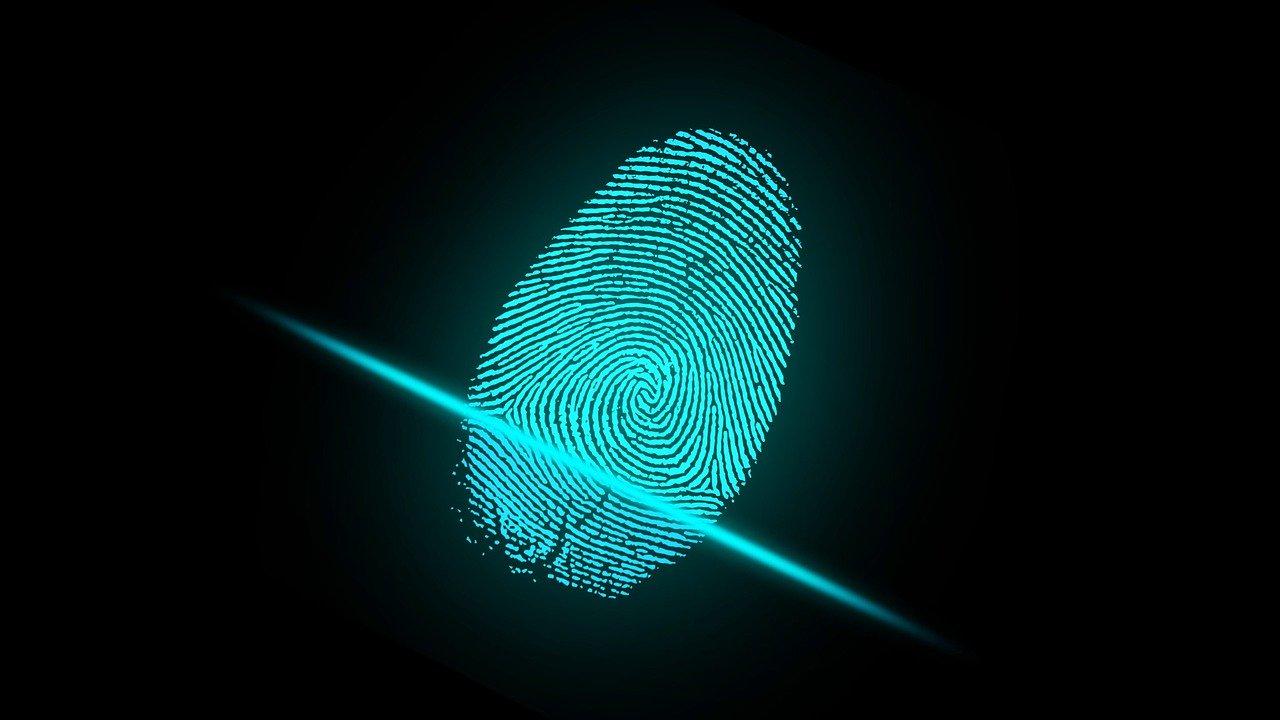 Fingerprint scanning system suspended