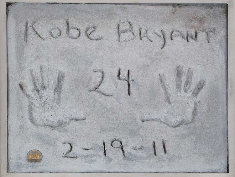 Kobe Bryant handprints among Beverly Hills auction items