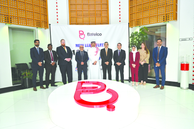 Tasheelat Car Leasing Company has won a lease contract from Batelco. This is the second time that Tasheelat has won the contract. The fleet of vehicles includes Honda City and CR-V cars. At the official signing of the lease contract, Batelco was represented by chief human resources officer Faisal Al Jalahma whereas Tasheelat Car Leasing Company was represented by general manager Ripin Mehta, among others.