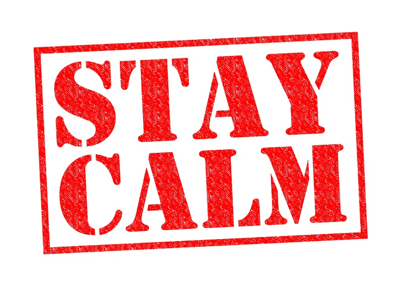 Remain calm urges official