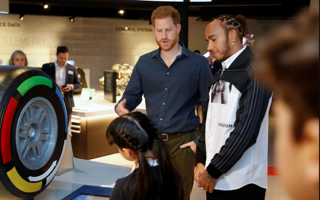 Prince Harry and F1 champion Lewis Hamilton open Silverstone museum