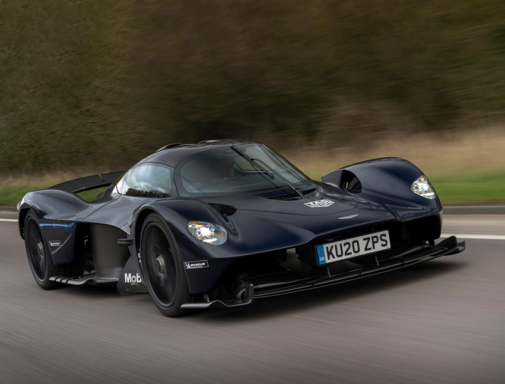 Aston Martin Valkyrie hits the roads