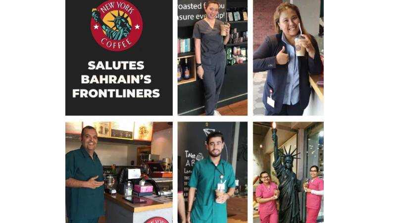 Bahrain-based coffee house shows support for healthcare workers combating Covid-19