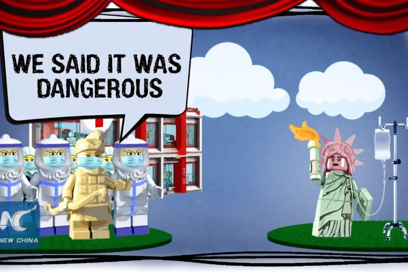 WATCH: China mocks U.S. coronavirus response in Lego-like animation