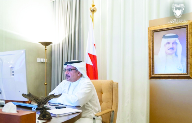 His Royal Highness Prince Salman bin Hamad Al Khalifa, Crown Prince, Deputy Supreme Commander and First Deputy Premier, yesterday chaired a meeting of the Government Executive Committee, held remotely. Latest Covid-19 developments were discussed.