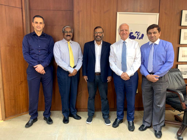 <p>Al Hilal Publishing and Marketing Group bid farewell to its distribution manager Majeed Kuniyil after 40 years of employment. A ceremony was held at the group's headquarters in Hoora to mark the occasion. Above, Mr Kuniyil, centre, at the ceremony with managing director Ronnie Middleton, second from right, group director Jubran Abdulrahman, left, finance director Sunny Mathai, second from left, and human resources and administration manager Mohammed Iftekharuddin.</p>