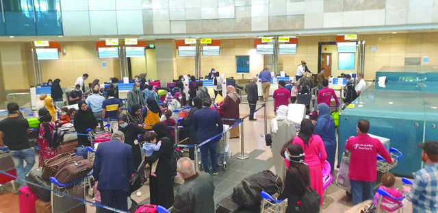 <div>A total of 150 Bahraini citizens and students returned to Bahrain from Egypt aboard Gulf Air flight yesterday. </div><div><br></div><div>Ambassador Hisham Al Jowder thanked Egyptian authorities for working throughout Eid Al Fitr holiday to co-ordinate the last flight.</div>