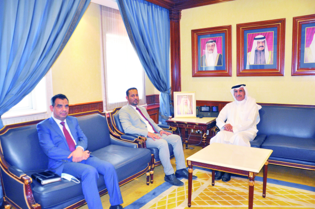 Housing Minister Bassem Al Hamer yesterday met MP Mohammed Al Bahrani and reviewed topics related to the 12th constituency in the Northern Governorate.