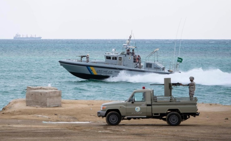 Saudi Border Guards spotted three Iranian boats on entering territorial waters