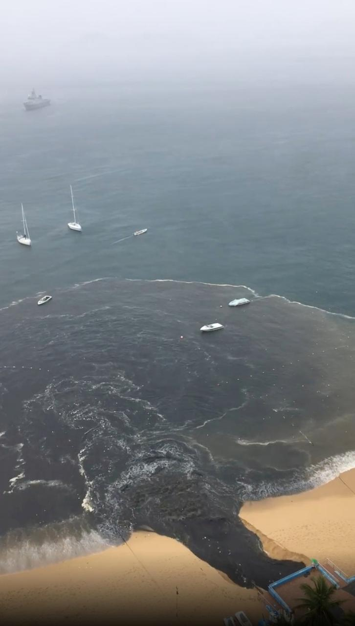 'Nauseous' sewage spill in Mexican beach resort captured in viral video