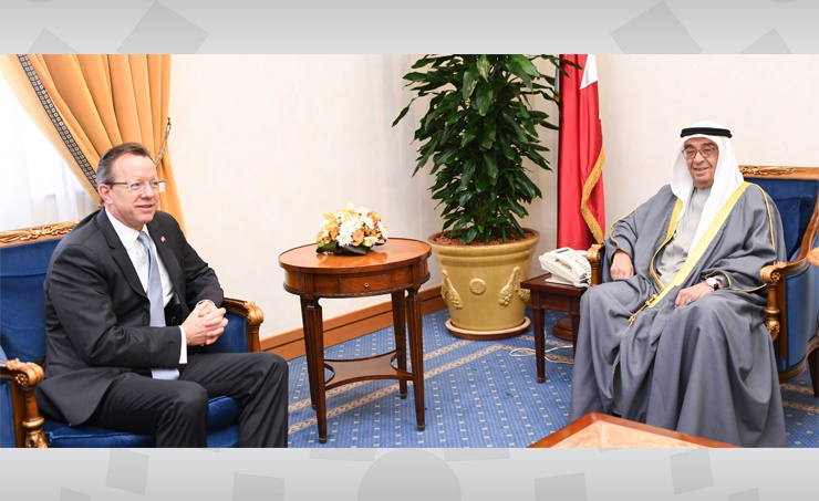 Deputy Prime Minister Shaikh Mohammed bin Mubarak Al Khalifa yesterday received outgoing US Ambassador Justin Siberell and commended his efforts to enhance relations.