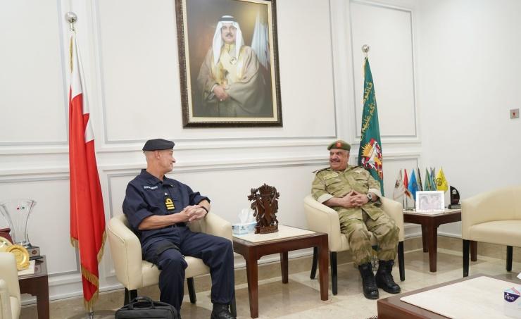 National Guard Staff director Major General Shaikh Abdulaziz bin Saud Al Khalifa yesterday received British Defence Attaché in Bahrain Commander Paul Windsar and hailed deep-rooted relations.