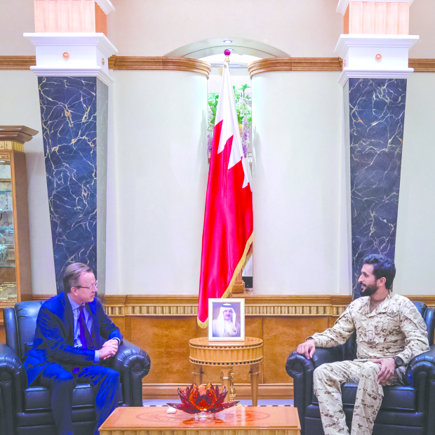 <p>His Majesty&rsquo;s representative for humanitarian work and youth affairs, National Security Adviser and Supreme Council for Youth and Sports chairman Shaikh Nasser bin Hamad Al Khalifa yesterday met outgoing US Ambassador Justin Siberell and discussed strong bilateral relations. Shaikh Nasser also praised his efforts to bolster ties.</p>