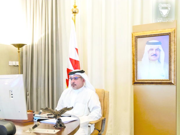 His Royal Highness Prince Salman bin Hamad Al Khalifa, Crown Prince, Deputy Supreme Commander and First Deputy Premier, yesterday chaired a meeting of the Government Executive Committee, held remotely. Latest developments on measures to combat Covid-19 were reviewed.