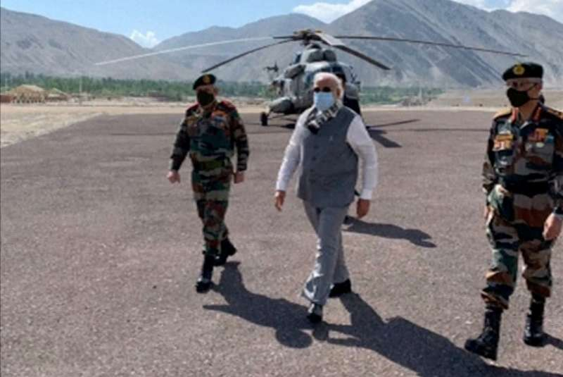 India's Modi visits Himalayan border where troops clashed with China