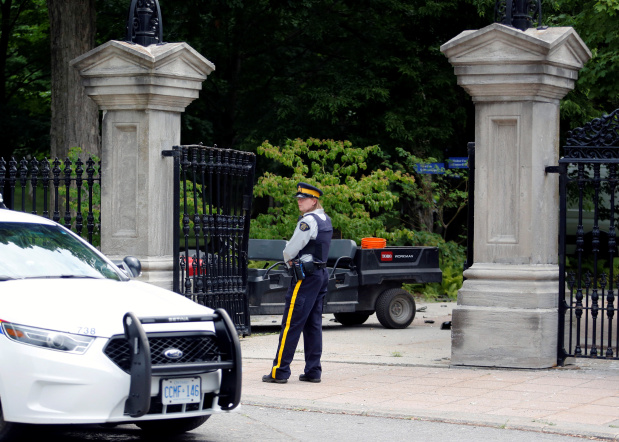 Armed military man who rammed gates near Canada PM Trudeau's residence acted alone, say police