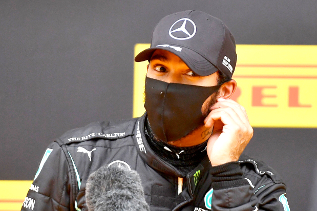 Hamilton storms to pole