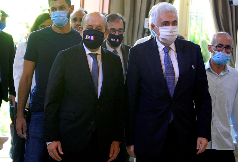 Lebanese official finds he has Covid-19 at lunch with France's Le Drian