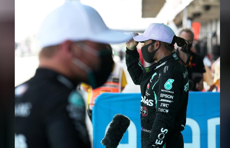 Hamilton on pole as Mercedes sweep Spanish GP front row